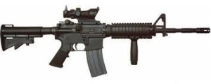.223 assault rifle, like the one used in the shootings.