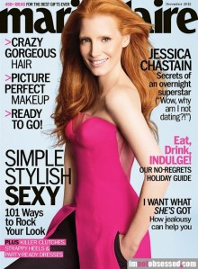 Jessica Chastain on the cover of said Marie Claire only further encourages my desire for botox. My forehead hasn't looked like that in ten years.