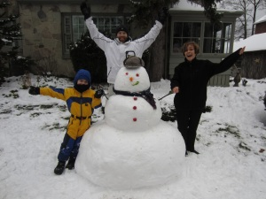 How great is that snowman? Love my family!
