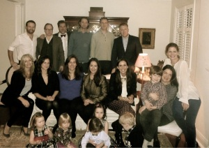 The Christmas Eve Gang. Such a wonderful evening.