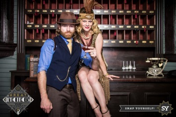 Sean & I at the Speakeasy. We were not the only people dressed up!! Yay enthusiasm!!